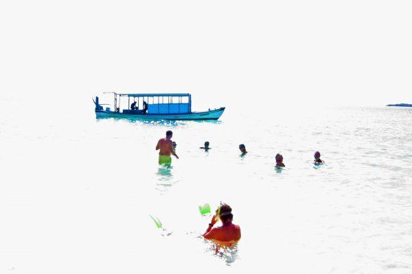 Malediven Uligamo Badestrand  2