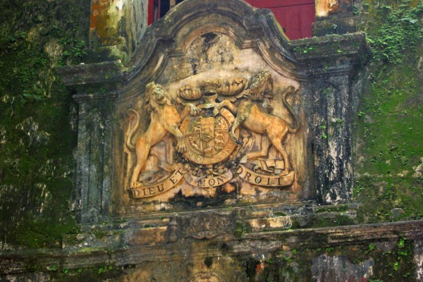 Sri Lanka/ Galle/ Altstadt/ English Royal Crest