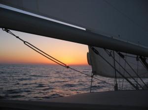 Indischer Ozean, letzter Abend vor dem Landfall